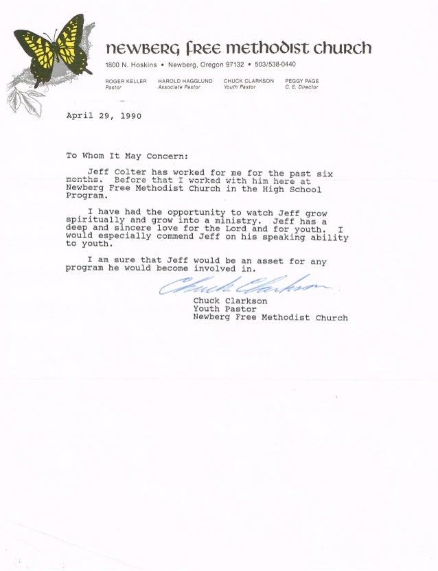 referrence letter