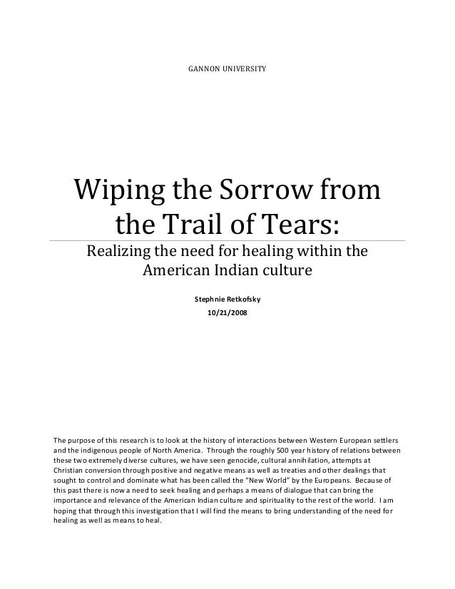 trail of tears native american perspective