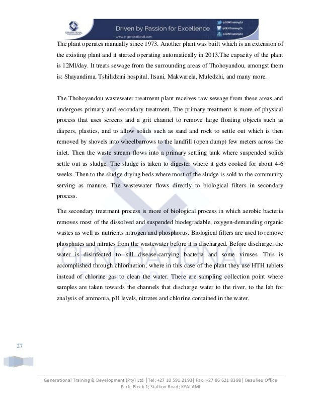 Vhembe Water Reclamation Project Final Paper Copy