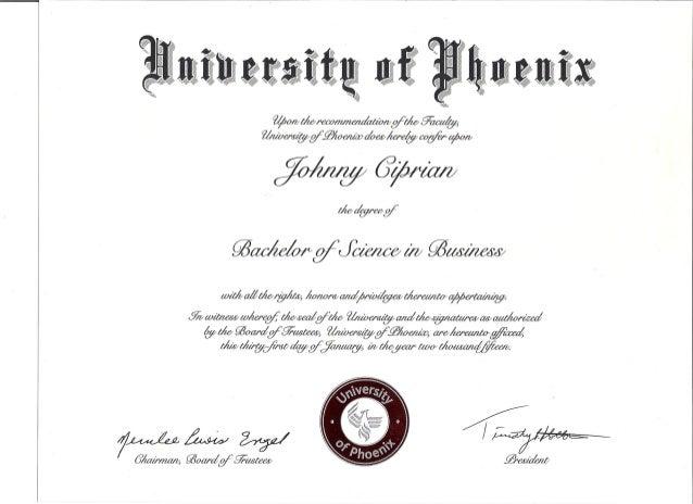 Bachelor's Degree Certificate