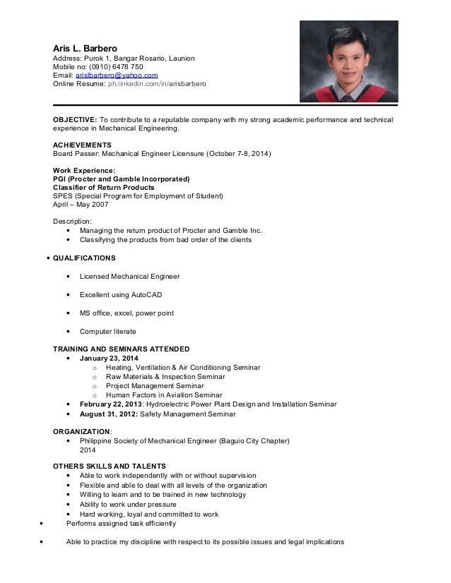 Sample Resume With Linkedin Link