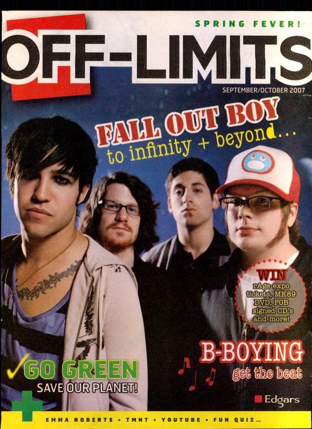 OFF LIMITS SEPTEMBER OCTOBER 2007