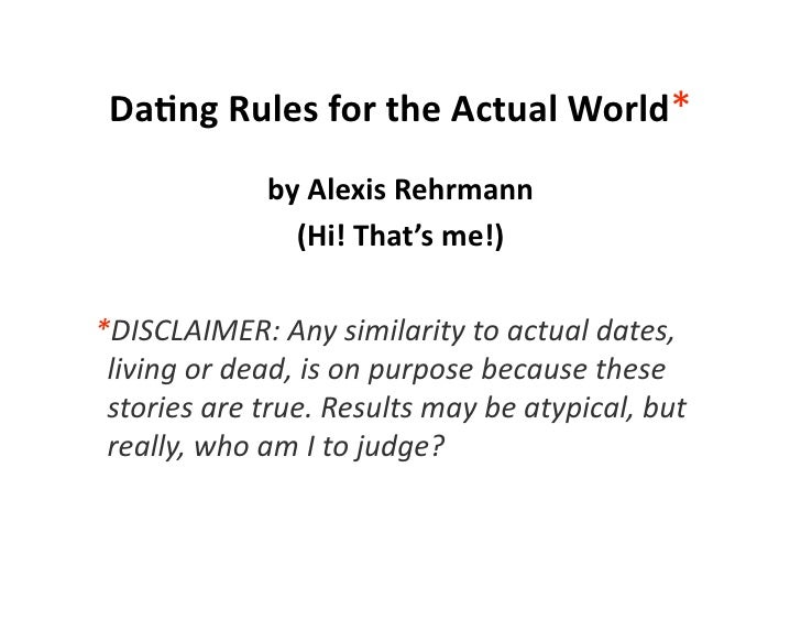 Dating rules around the world
