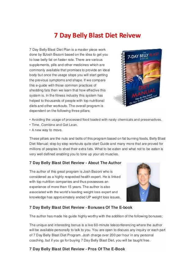 7 day belly blast diet shakes - 웹