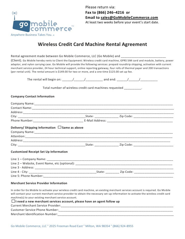 7 Day Rental Agreement