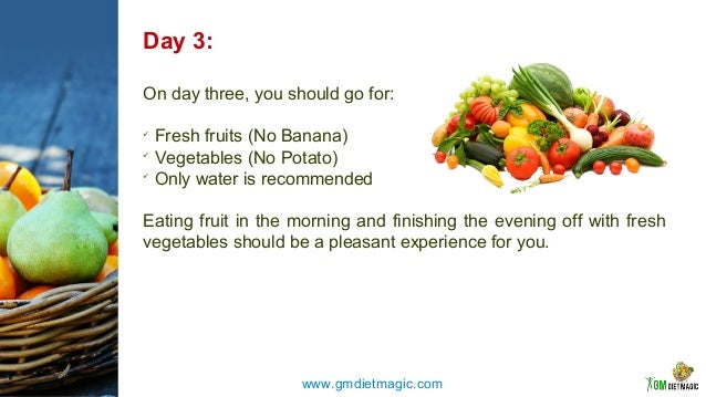gm diet plan for 3 days
