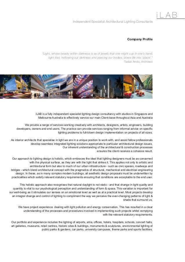 ilab profile architectural lighting consultants