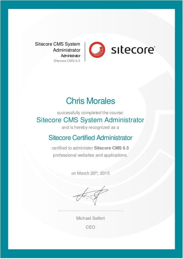 Sitecore Certified Administrator