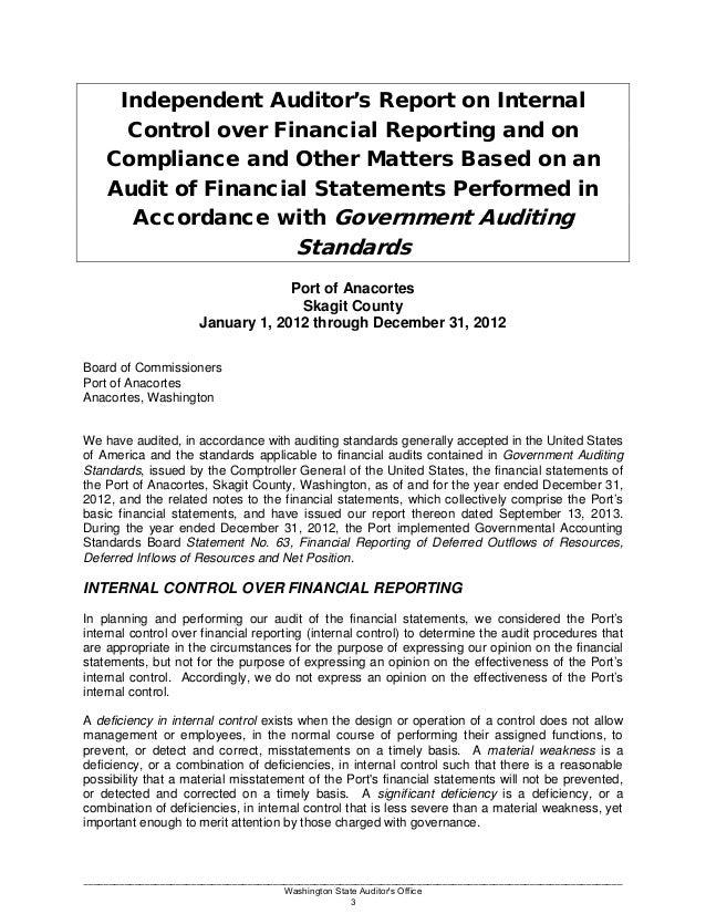 casino control internal report