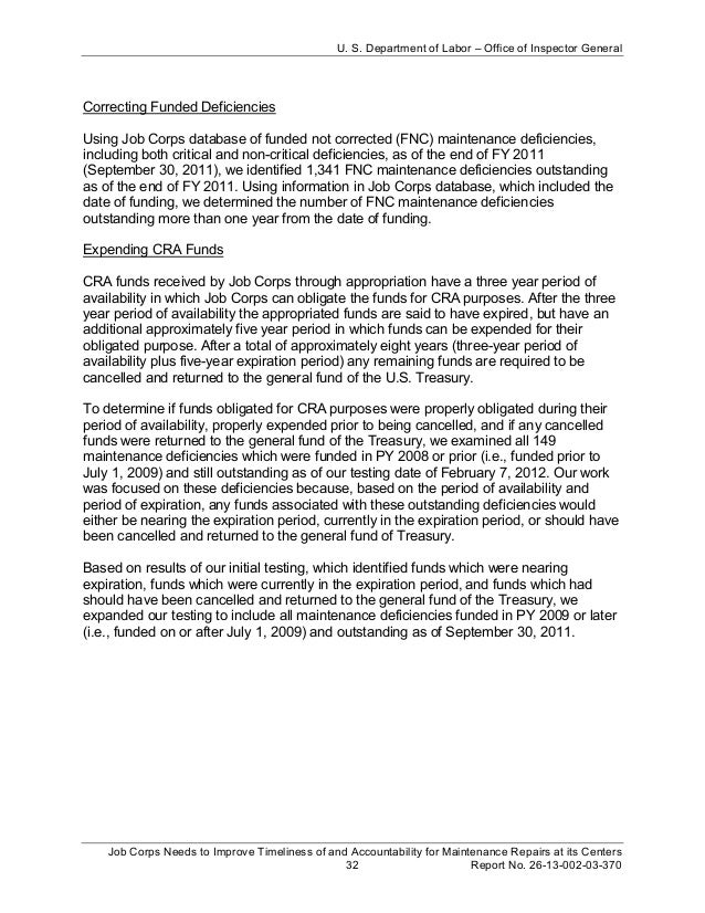 job corps needs to improve timeliness of and accountability for maint my physician assistant applicant letter of recommendation sample 1