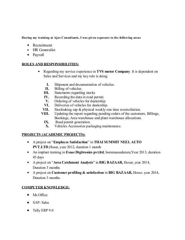 venu new resume