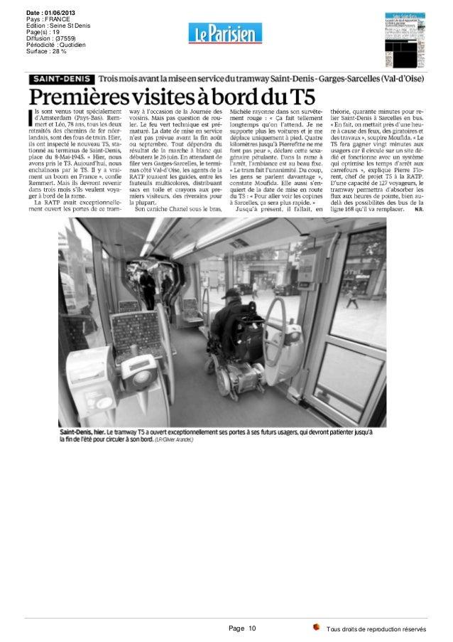 Tous droits de reproduction réservés Date : 01/06/2013 Pays : FRANCE Edition : Seine St Denis Page(s) : 19 Diffusion : (37...