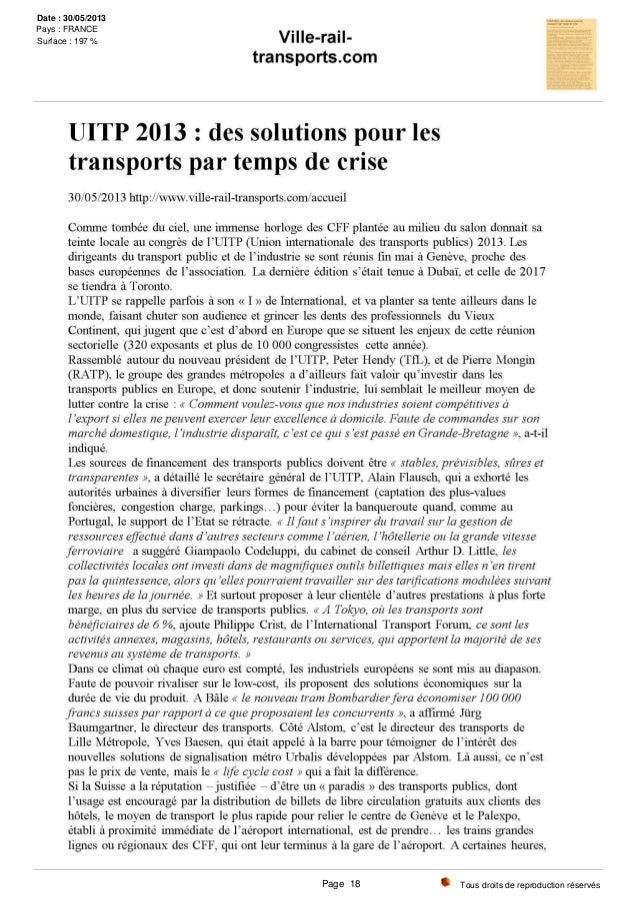 Tous droits de reproduction réservés Date : 30/05/2013 Pays : FRANCE Surface : 197 % Page 18