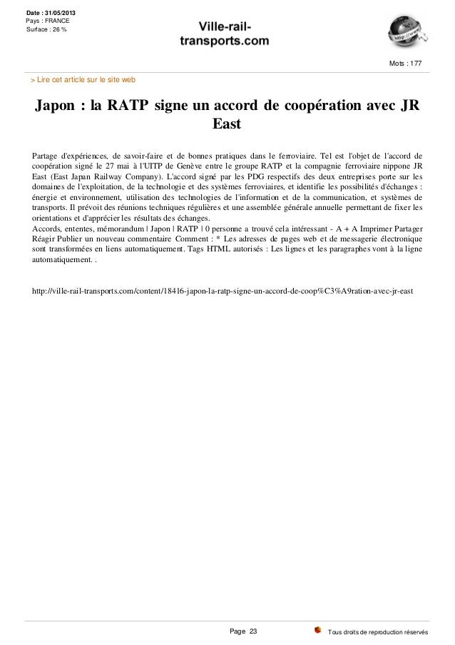 Japon : la RATP signe un accord de coopération avec JR East Partage d'expériences, de savoir-faire et de bonnes pratiques ...