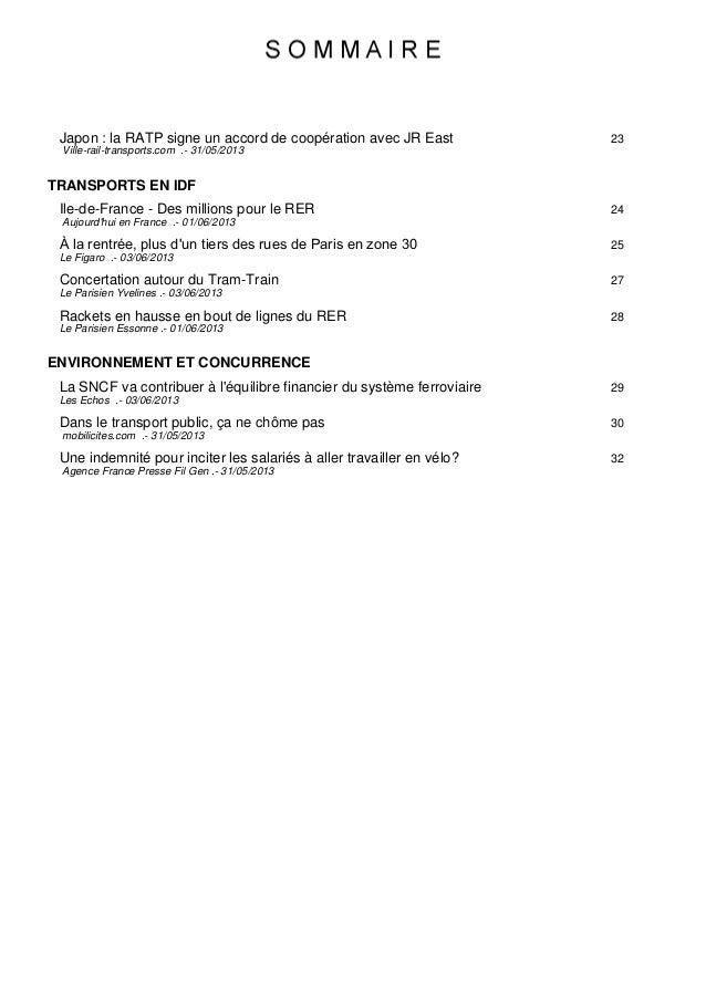 23Japon : la RATP signe un accord de coopération avec JR East Ville-rail-transports.com .- 31/05/2013 TRANSPORTS EN IDF 24...