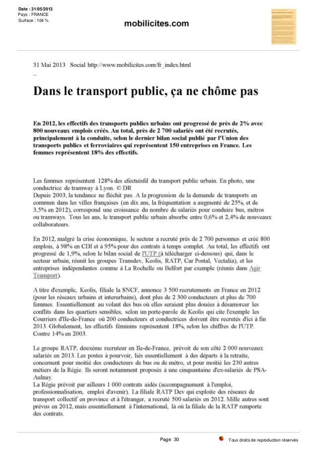 Tous droits de reproduction réservés Date : 31/05/2013 Pays : FRANCE Surface : 104 % Page 30