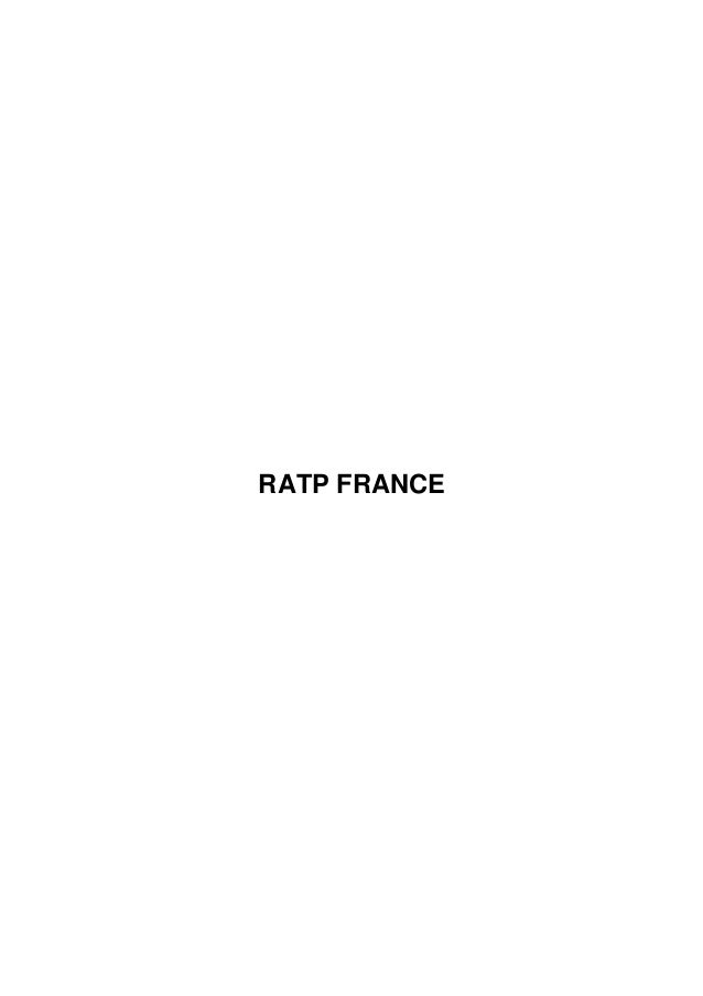 RATP FRANCE