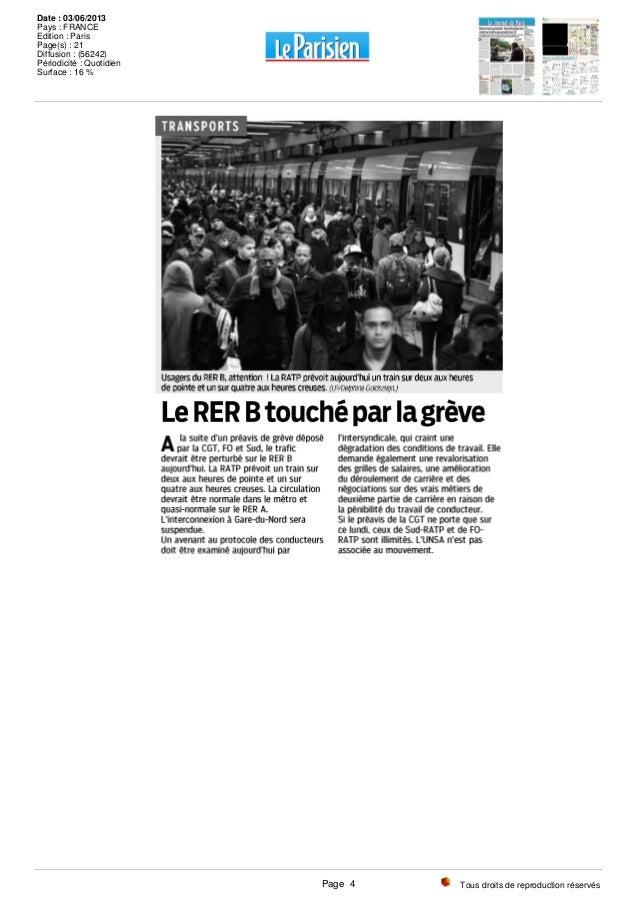Tous droits de reproduction réservés Date : 03/06/2013 Pays : FRANCE Edition : Paris Page(s) : 21 Diffusion : (56242) Péri...