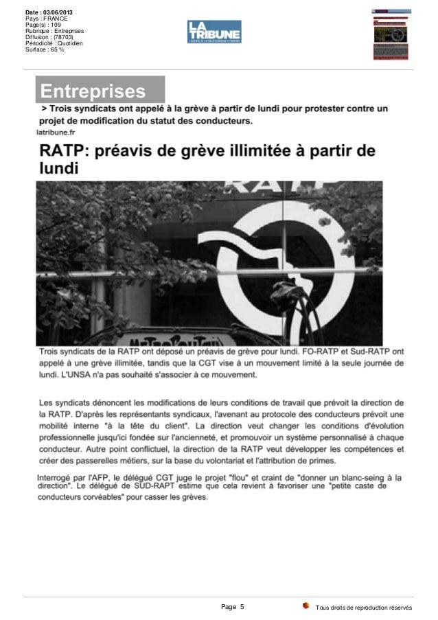 Tous droits de reproduction réservés Date : 03/06/2013 Pays : FRANCE Page(s) : 109 Rubrique : Entreprises Diffusion : (787...