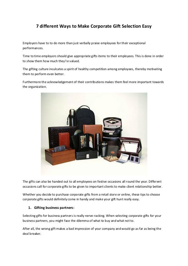 17c831a5e07c3b 7 different Ways to Make Corporate Gift Selection Easy Employers have to to  do more than ...