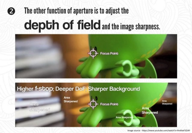 -$- Focus Point:   A large aperture (low f-stop) reduces the depth of field (MT) and results in the background looking blu...