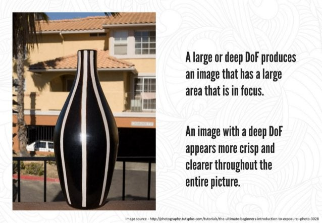 A small or shallow DoF produces an image that has a small area that is in focus.   This makes the image appears clear at o...