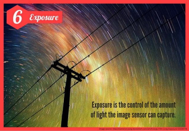 There are 3 elements that determine the exposure amount:  ' Aperture '  controls the amount of  light that can enter your ...