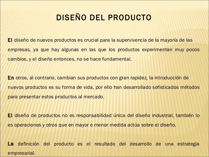 diseño del producto y proceso