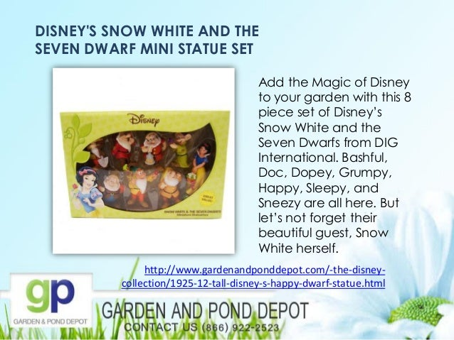 7 Disney Character Solar Garden Statue