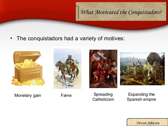 spanish conquistadors victory The spanish explorers encountered three major civilizations in the new world: the incas in present-day peru and the mayans and aztecs in mexico and central america the conquistadors were truly amazed by what they found — immense wealth in gold and silver, complex cities rivaling or surpassing those in europe, and remarkable artistic and .