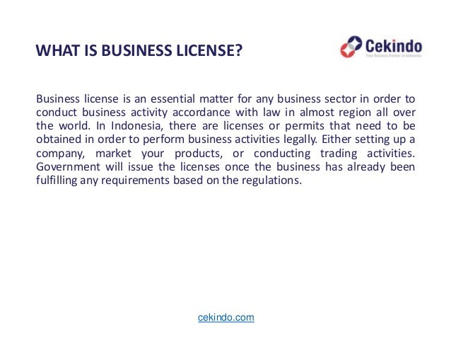 doing business in indonesia: business license