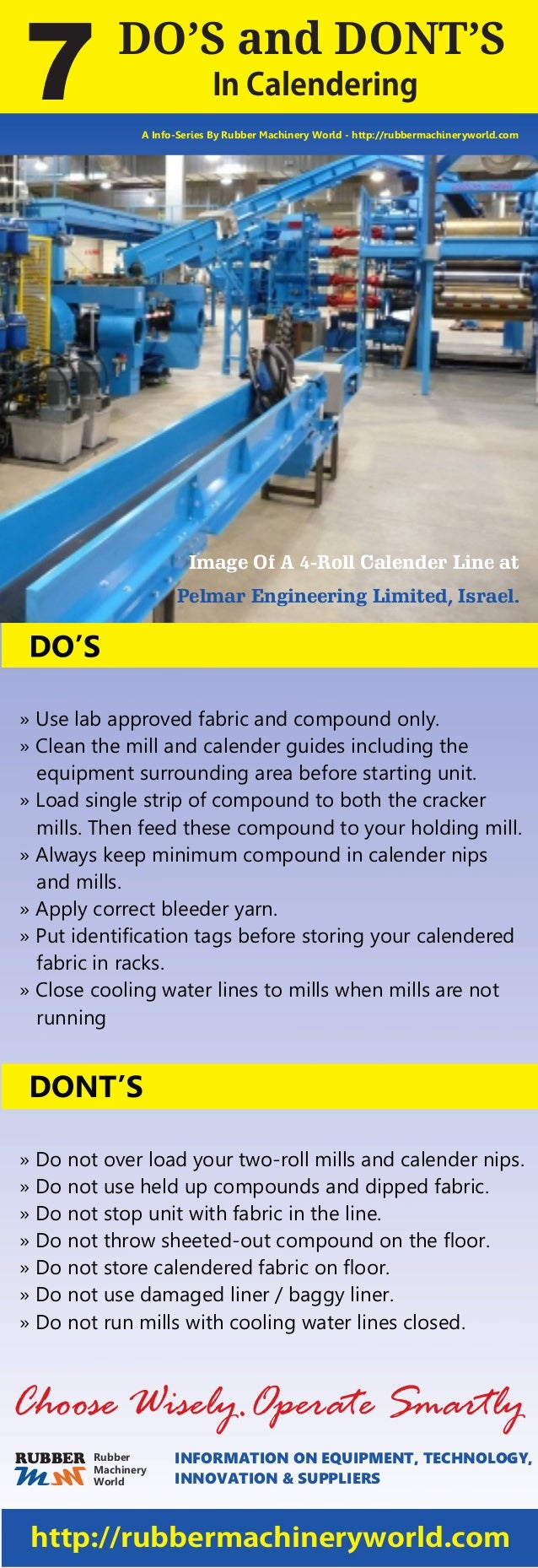 DO'S and DONT'S InCalendering7 A Info-Series By Rubber Machinery World - http://rubbermachineryworld.com Image Of A 4-Roll...