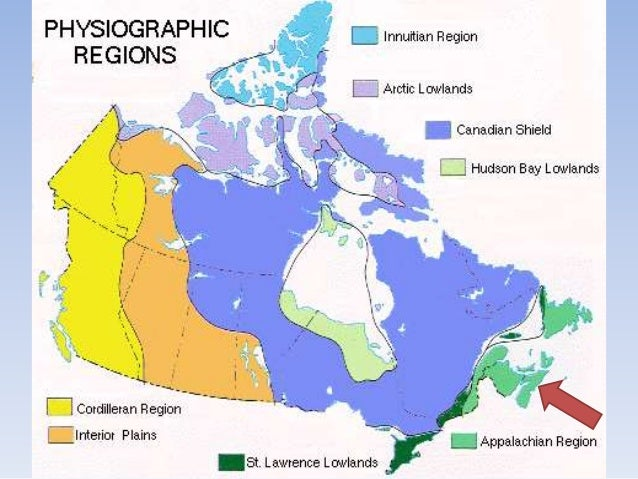 Regional Map Of Canada.A Regional Geography Of Canada