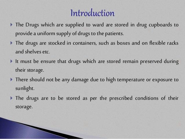 Drug Storage & Maintenance