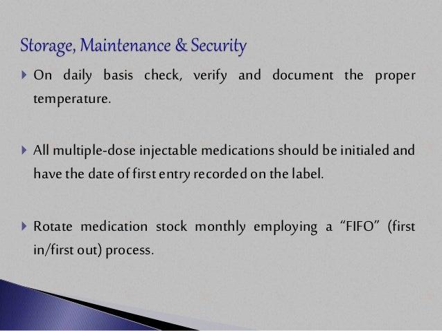 Drug Storage Amp Maintenance