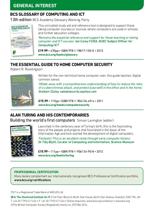 Bcs Books Catalogue Oct14 To Mar15