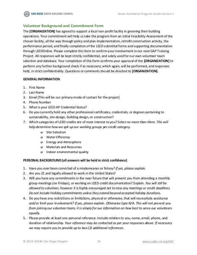 Green assistance program guide v1 for Leed letter template