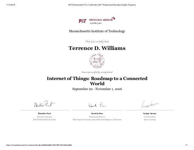 MITProfessionalX IOTx Certificate _ MIT Professional Education Digita…