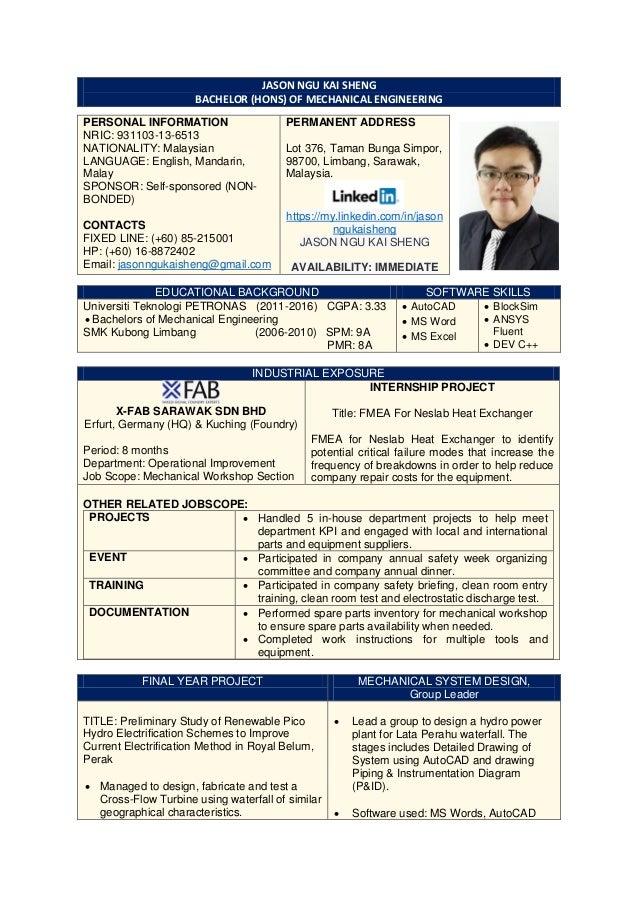 jason ngu kai sheng  resume