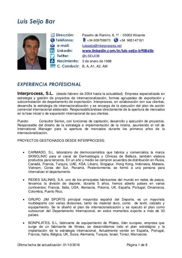 CV LUIS SEIJO BAR 2016 ESP EXTENSO POR SECTORES