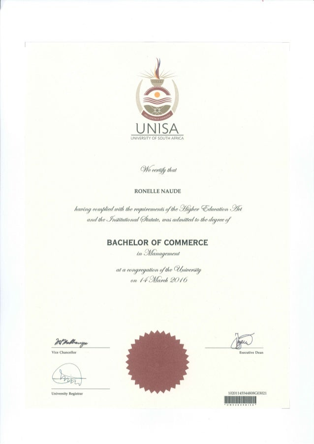 Unisa Bcom Management Degree