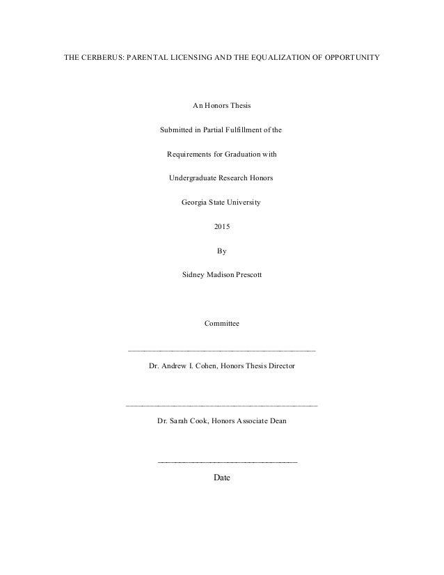honors thesis gsu