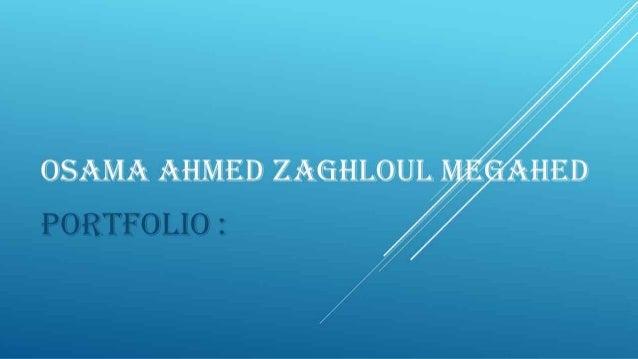 Osama Ahmed Portfolio
