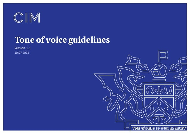 Tone of voice guidelines Version 1.1 10.07.2015