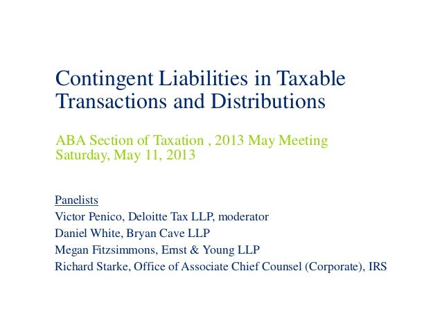 May 2013 Aba Panel Contingent Liabilities 2013 05 10