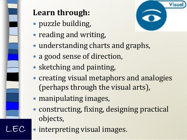 Learn through:  dancing,  physical co-ordination,  sports,  hands on experimentation,  using body language,  acting,...