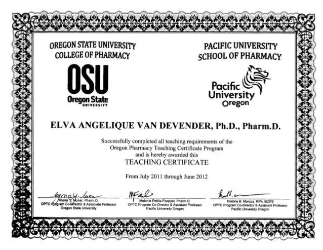 certificate teaching slideshares proximos