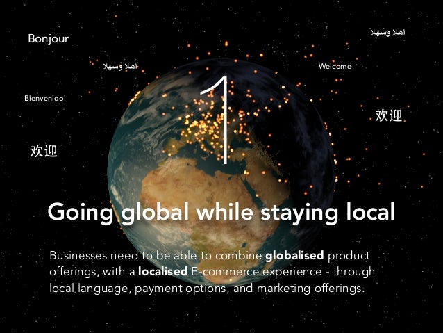 أهال وسهال  Bonjour أهال وسهال  Bienvenido  欢迎  1  Welcome  欢迎  Going global while staying local Businesses need to be...