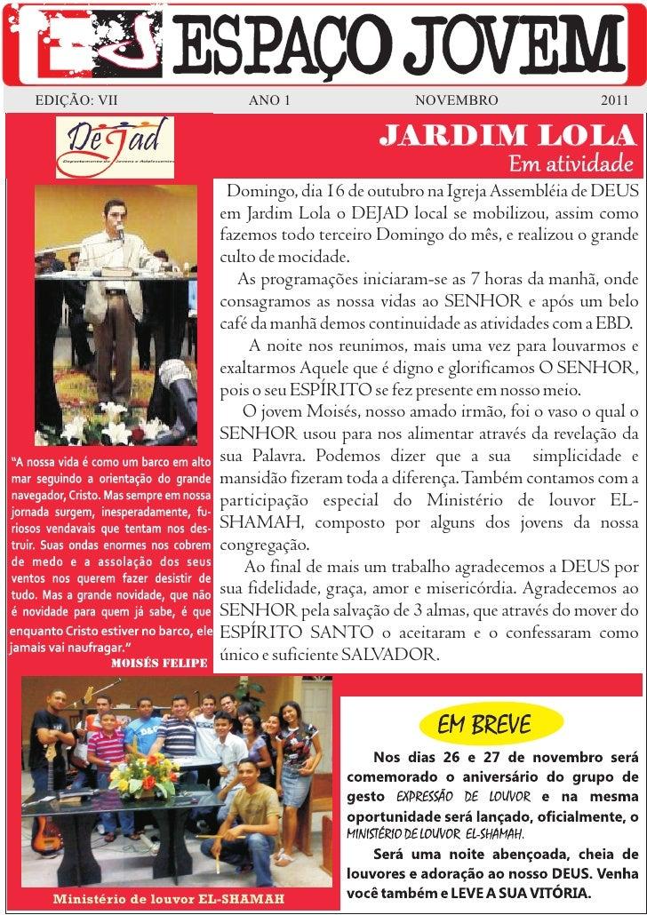 EDIÇÃO: VII                ANO 1                  NOVEMBRO                 2011                                           ...