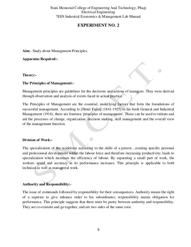engineering economics and management personal statement